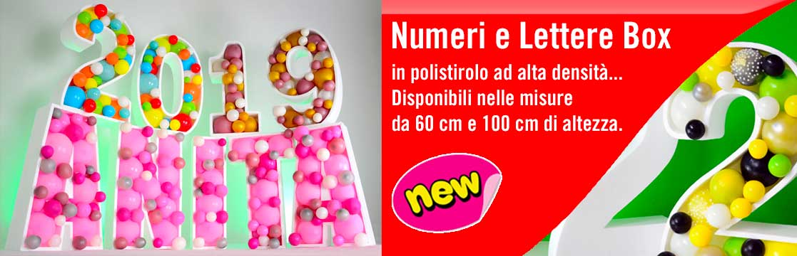 Balloon Box numeri e lettere