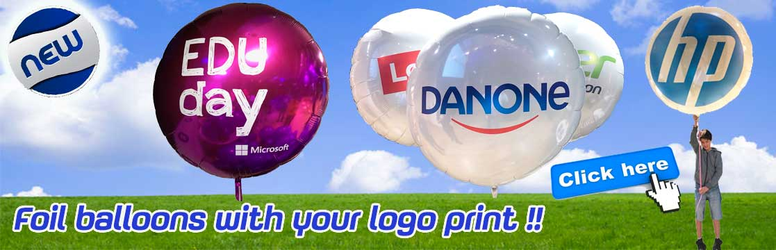 Foil balloons with logo