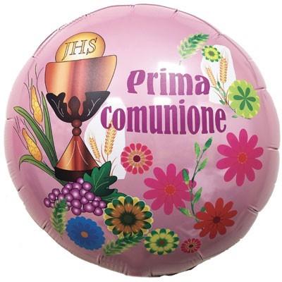 pallone-mylar-comunione-rosa