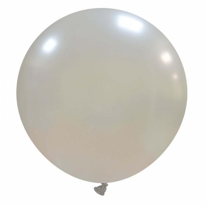 pallone gigante 80 cm argento