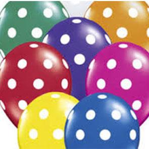palloncini 5 pollici a pois