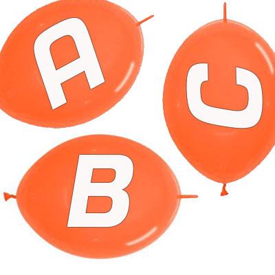 palloncini-link-arancione-lettera