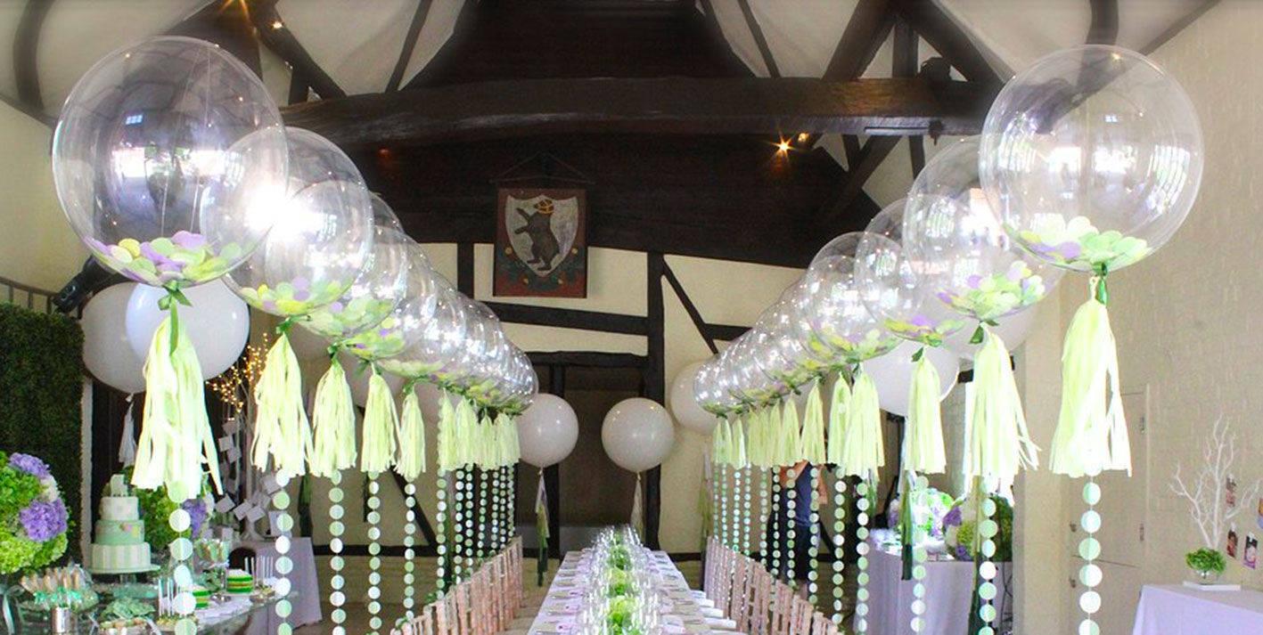 Pallone mylar bubbles trasparente 51 cm palloncini newballoonstore milano vendita palloncini - Decorazioni matrimonio palloncini ...
