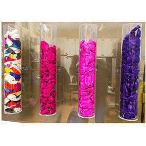 Tubo Plexglass trasparente portapalloncini da parete