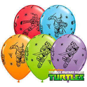 "Palloncini 12"" colori assortiti ""Turtles"""