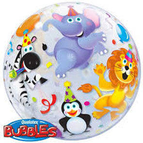 "Pallone Bubbles 22"" Party Animals"