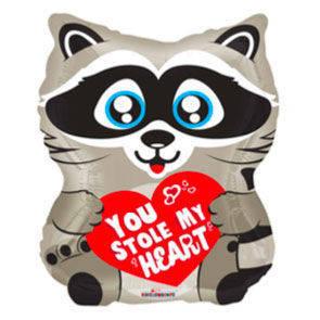 """Pallone mylar 18"""" Love Raccoon"""