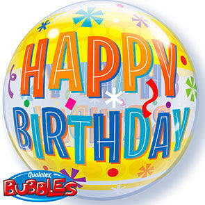 "Bubbles 22"" Happy Birthday"