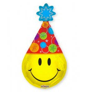 "Pallone in mylar mini shape ""Smiley Party"""""