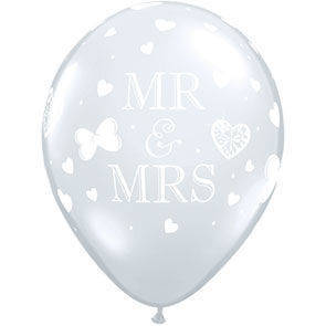"Palloncini 12"" MR & MRS"