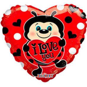 "Pallone mylar 18"" I Love You Coccinella"