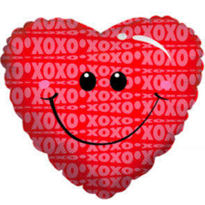 "Pallone mylar 18"" Smiley Kissy Face"