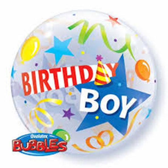 "Bubbles 22"" Birthday Boy"
