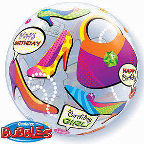 "Bubbles 22"" Compleanno Girl"