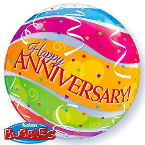 """Bubbles 22"""" Felice Anniversario"""