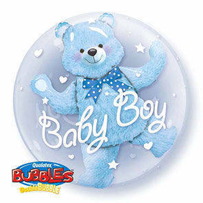 "Double Bubbles 24"" Blu Bear"