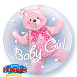 "Double Bubbles 24"" Pink Bear"