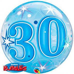 """Bubbles 22"""" 30 Anni Blu"""