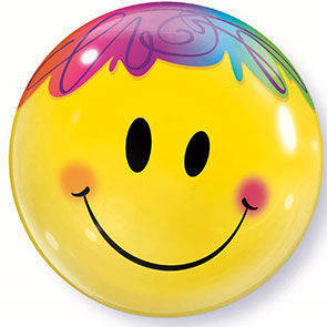 "Pallone Bubbles 22"" Smile Face"
