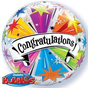 "Bubbles 22"" Congratulation"