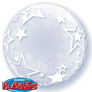 "Bubbles 22"" clear Stars"