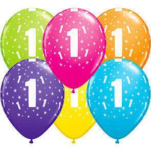 """Palloncini 12"""" colori assortiti stampa Numeri"""