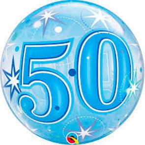 """Bubbles 22"""" 50 Anni Blu"""