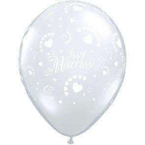 """Palloncini 12"""" Just Married"""
