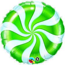 "Pallone mylar caramella 9"" Verde"