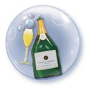"Pallone Double Bubbles 24"" Wine Bottle"