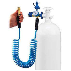 Erogatore con tubo a molla estensibile adatto per tutti gli accessori Conwin