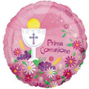 """Pallone in mylar 18"""" Prima Comunione Bimba"""
