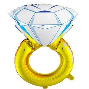 """Pallone mylar 33"""" Anello Diamante"""