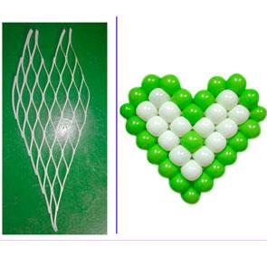 Rete in plastica a cuore