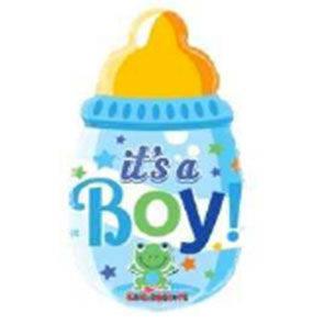 """Pallone in mylar mini shape """"Biberon It's a Boy"""""""