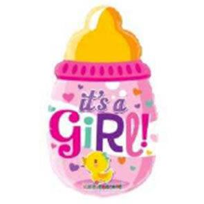 """Pallone in mylar mini shape """"Biberon It's a Girl"""""""