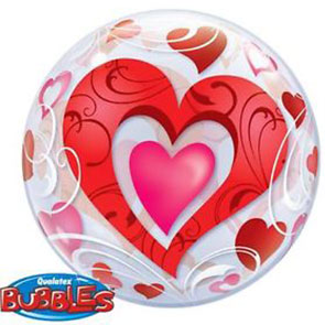 "Bubbles 22"" Heart Filigree"