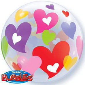 "Bubbles 22"" Cuori Colorati"