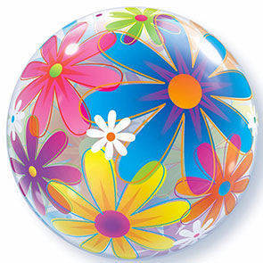 "Pallone Bubbles 22"" Funciful Flowers"
