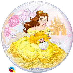 """Pallone Bubbles 22"""" Principessa la bella e la bestia"""