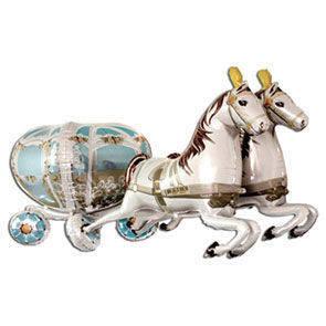 Carrozza Matrimoniale con cavalli 3D
