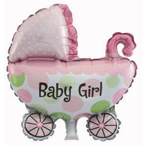 "Pallone mylar 42,5"" Carrozzina Baby Girl"