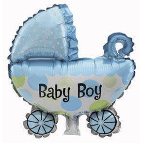 "Pallone mylar 42,5"" Carrozzina Baby Boy"