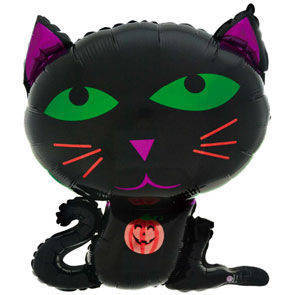 "Pallone mylar Halloween Cat 19"""