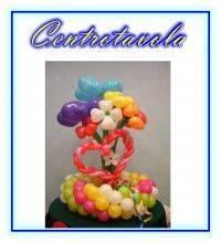Centrotavola a fiori di palloncini