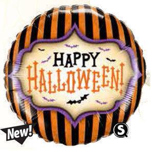 "Pallone mylar tondo 18"" Halloween Stripes"