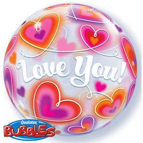 """Bubbles 22"""" Love you doodle"""