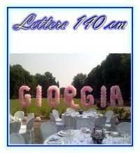 Lettere di palloncini 140 cm per composizione nomi sposi