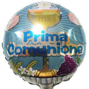Pallone mylar Prima Comunione Boy