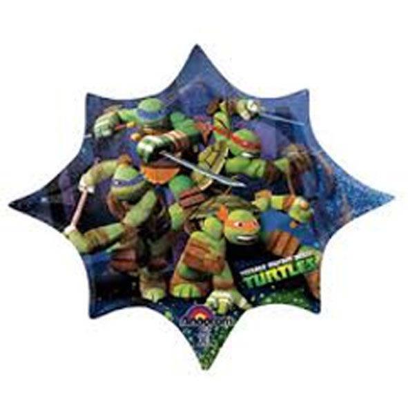 Pallone mylar Turtles 88 cm